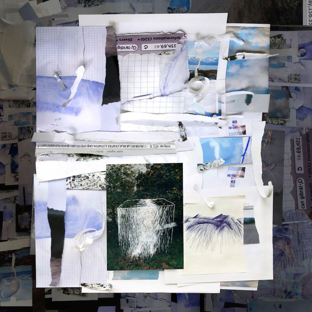 """Danièle Gibrat, """"horitzó: la page#3"""" - tirage numérique, 120x120 cm, 2020"""