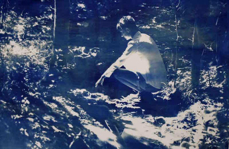 Lucie Linder, « Justine » Cyanotype sur papier gravure Fabriano 250g, 2020 Format : 70 x 100 cm