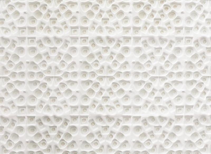 Lucie Douriaud, dalle à ammolindt (détail) 2015 plâtre, moulage 100 x 133 x 5 cm