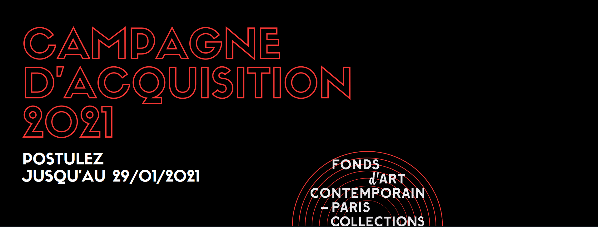 CAMPAGNE D'ACQUISITION 2021 DU FONDS D'ART CONTEMPORAIN – PARIS COLLECTIONS