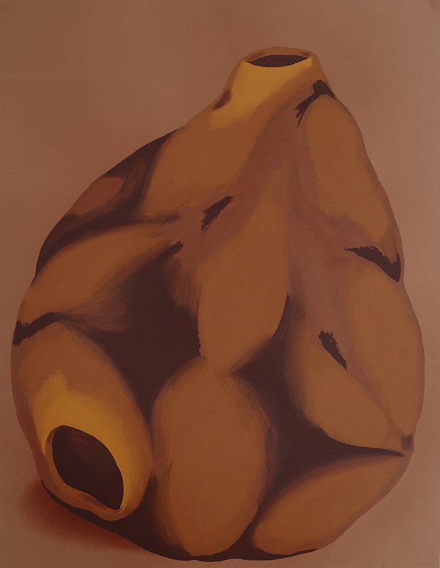 Elvira Voynarovska, Holobiontes, pastels à l'huile sur papier, 50x65cm