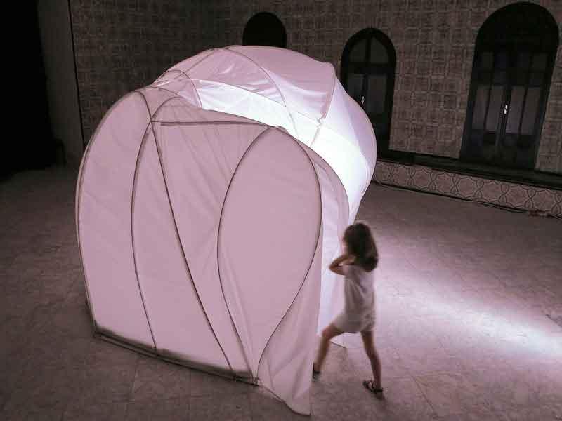 Filomena Borecka, « PHRENOS - La Banque du Souffle »  vue de l'exposition internationale Surfaces Sensibles, E-Fest, 2015, Palais Abdelia,Tunis