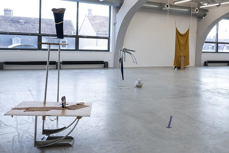 Vue de l'exposition collective La fête de l'insignifiance, 2020, La Kunsthalle de Mulhouse © photo : Sébastien Bozon
