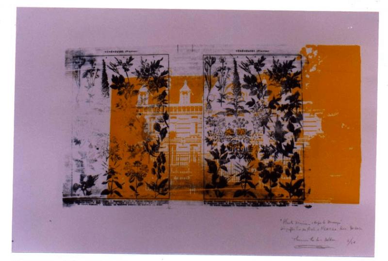 """Thanouvone thi-hack Baldine """"Hospice de Dunkerque & plantes vénéneuses"""", 2001. Sérigraphies tirées sur Arche & Rivoli, 12 numéros chaque. E.n.s.b.a. Paris."""