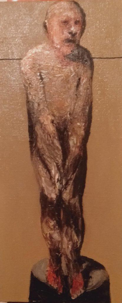 Niyaz Najafov Untitled (monument la honte), 2020 huile dur toile 40x95 cm