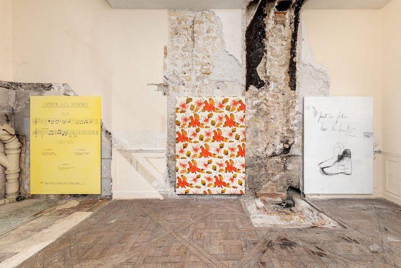 Sébastien Bonin, Bande Annonce, exhibition view, Karl Marx Studio, January 2021, Paris