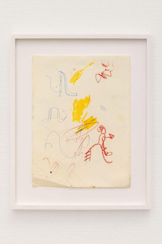 Sébastien Bonin, Autoportrait ou il faut mériter l'univers, 2019, crayon and ball point pen on paper, 29,7 x 21 cm