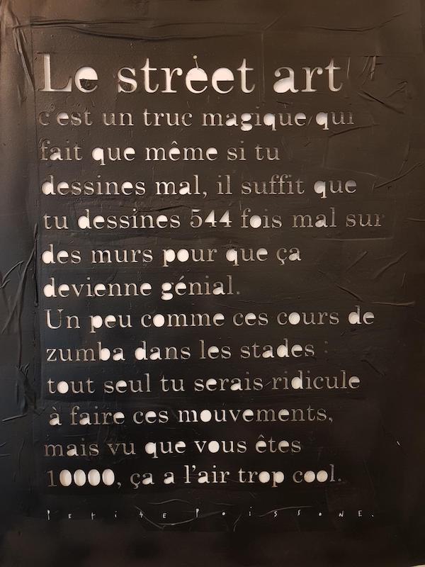 Petite poissone - Street art - découpe de pochoir