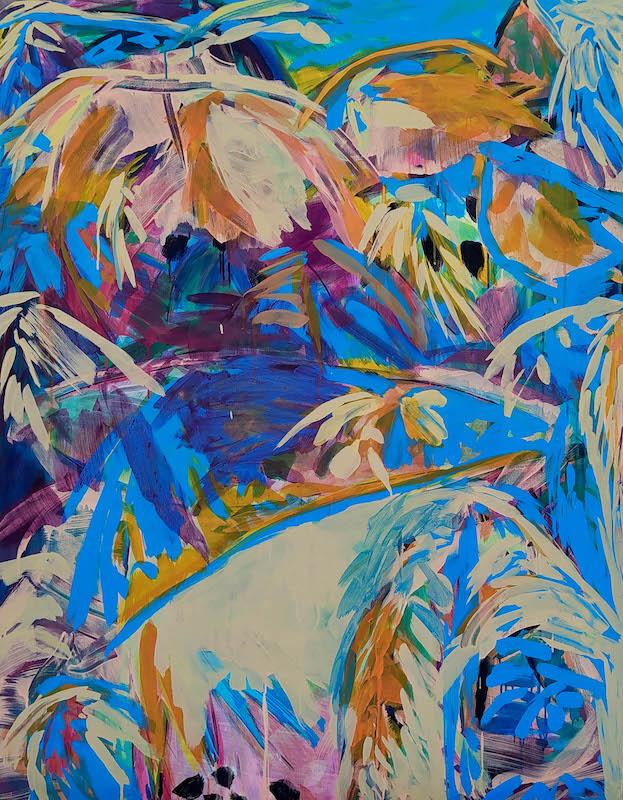 Julie Susset, DJAM 2, 2020. Acrylique sur toile, 146 x 114 cm