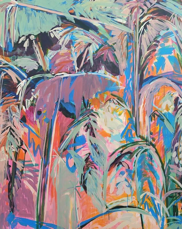 Julie Susset, DJEBEL, 2020. Acrylique sur toile, 200 x 160 cm