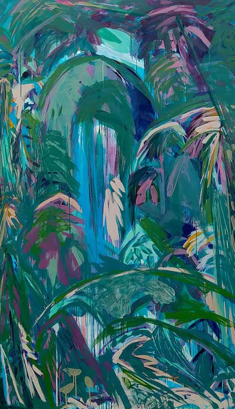 Julie Susset, LAÔ, 2020. Acrylique sur toile, 195 x 114 cm