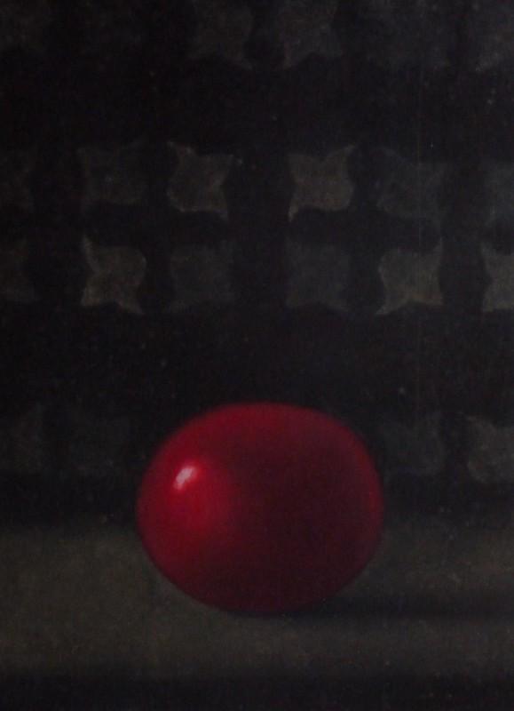 Anne-Claire Schmit, La tomate, monotype et huile sur toile, 40 x 30 cm, 2011