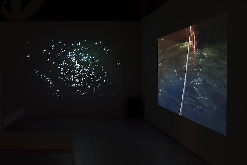 vue de l'installation vidéo Sous l'Aquilon rouge, Emma Charrin