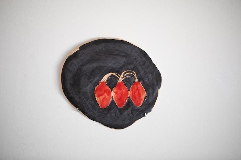 Mona Rocher, Esquisse pour Les trois grâces, 2021, céramique émaillée