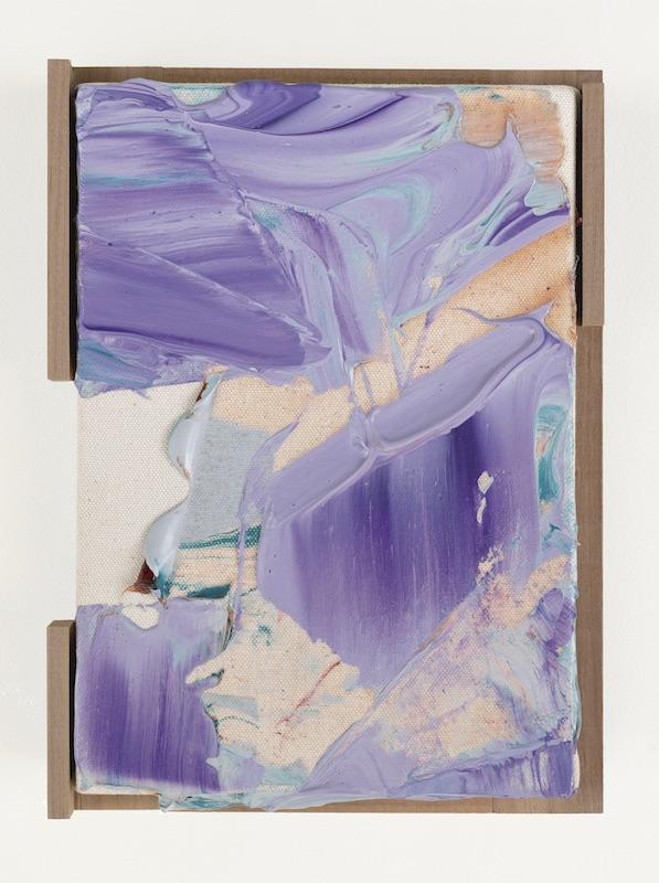 Kenjiro Okazaki, Scriptorium / A Winged Man or Angel / 言葉が降りてくる場所 Acrylique sur toile 24,4 x 18 x 3 cm Unique  Photo : Shu Nakagawa - Courtesy artiste et galerie frank elbaz