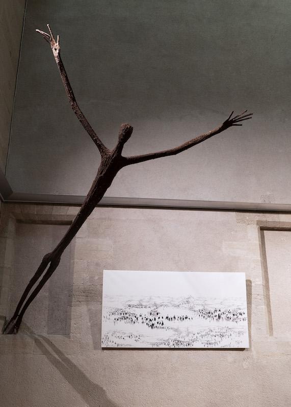 Vue exposition « Trajectoires » de Sybille Friedel et Ndary Lo, Chapelle du Collège de Carpentras