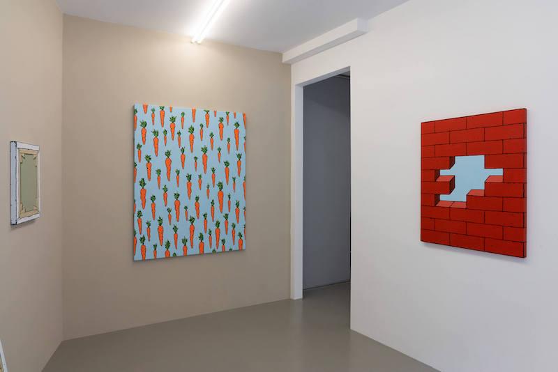 Vue exposition REPEAT AFTER ME d'Antoine Desailly jusqu'au 24 avril 2021, Galerie Modulab, Metz
