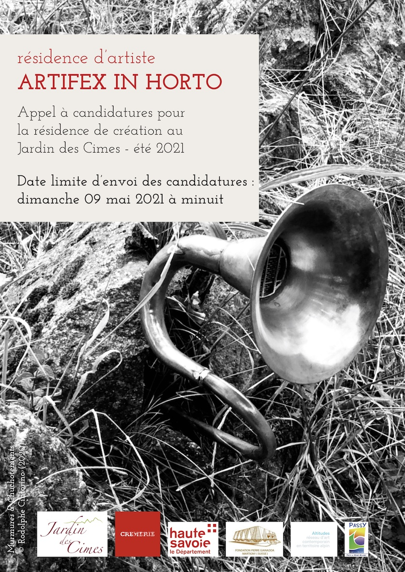 APPEL A CANDIDATURE RESIDENCE D'ARTISTE ARTIFEX IN HORTO