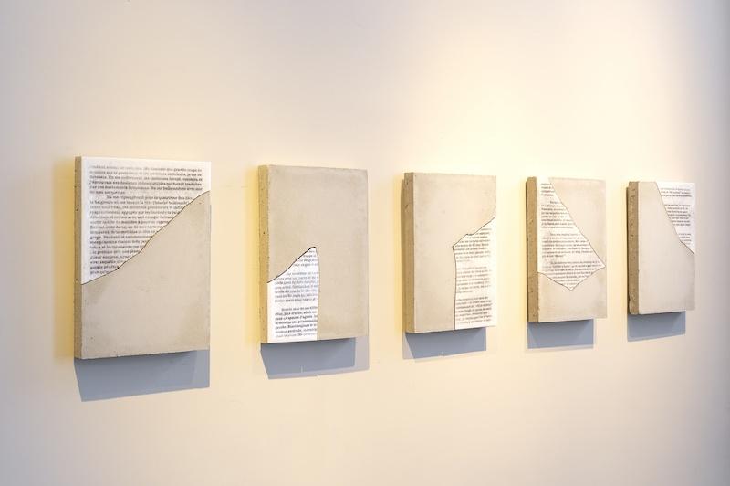 Vue exposition « Des formes et l'Histoire », une grammaire possible, Galerie Gradiva, Paris