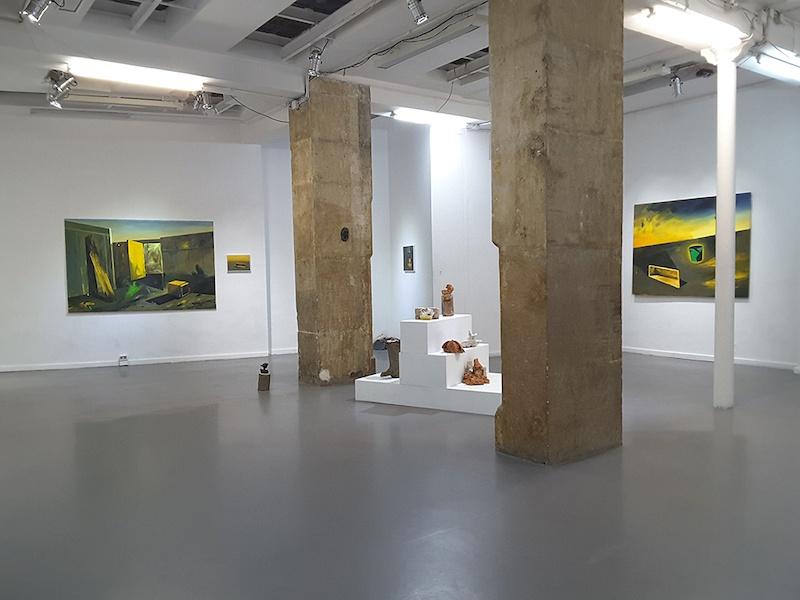Vue exposition Blazing sun de Karine Hoffman Galerie Dix9 Paris