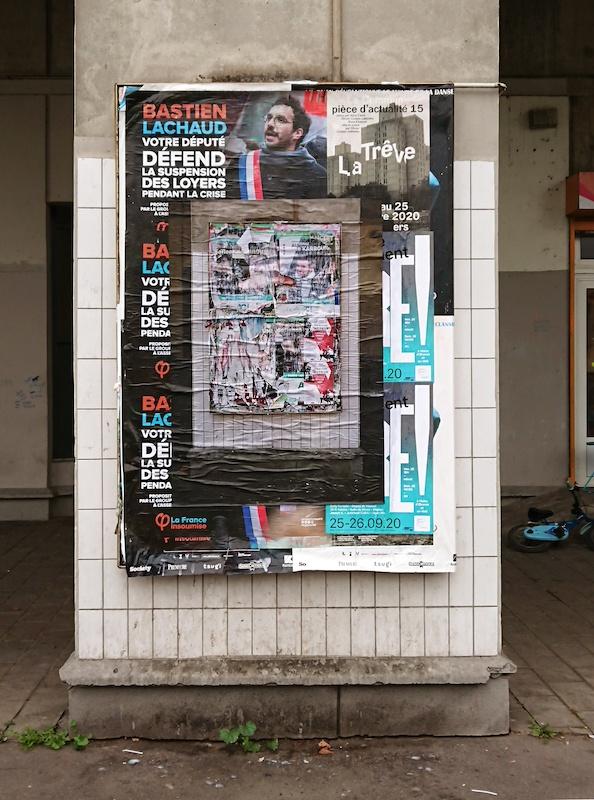 Action - espace, 2020 impression numérique sur papier 112 x 84 cm action, collage sauvage urbain