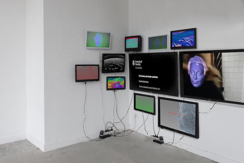 Manon Pretto, Beyond, 2020 Avec Niloufar Basiri Installation, écrans multiples, avatar, animation 3D, dimensions variables.