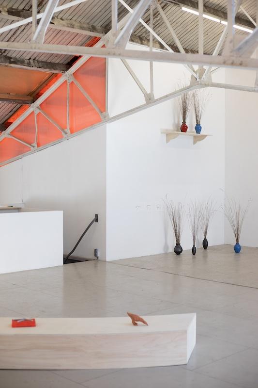 Vue exposition « La Veillée » Mona Rocher - Ateliers Vortex Dijon Photo Vincent Arbelet