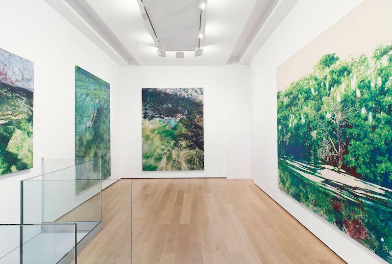Vue exposition Alexandre Lenoir, Sous le niveau de la mer, Galerie Almine Rech, Paris