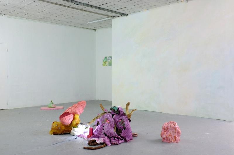Vue exposition Fleur bleue - Atelier W Pantin - Photo Arthur Molines