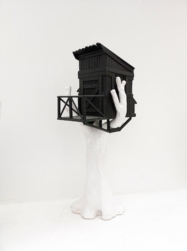 Katia Bourdarel Claudette 2021 bois er ceramique 40x15x22 cm