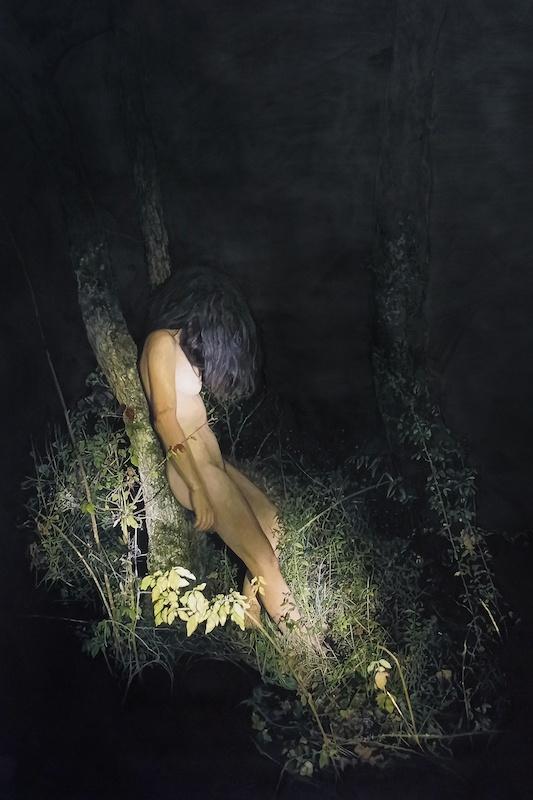 Katia Bourdarel Songe d'une nuit d'ete #2, 2020, huile sur toile 180x120cm