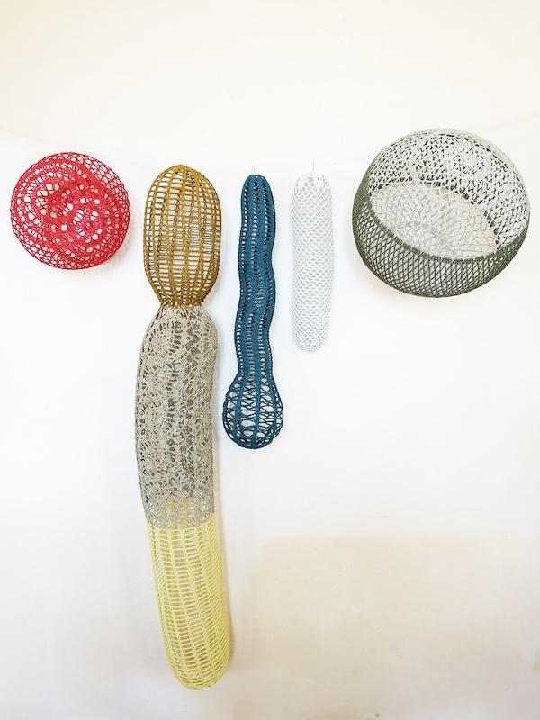 Le jardin d'Eden Œuvres textiles crochetées de Marie-Claire Corbel