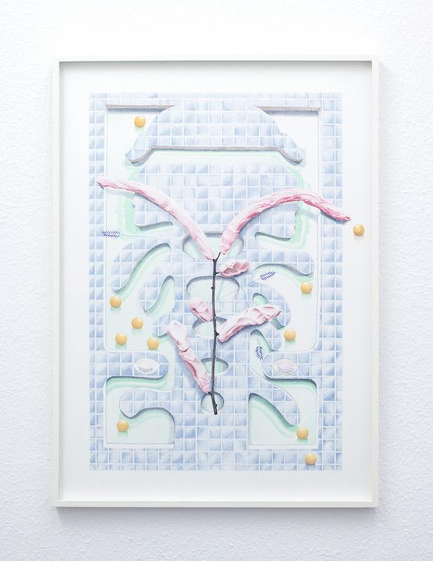 Ellande Jaureguiberry, Bliss X, 2020 Crayon de couleur sur papier 19 x 29 cm Lieu : A.ROMY Gallery, Genève Crédit : Greg Clément