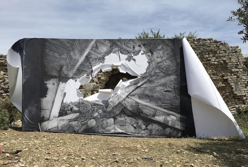 Tant que la terre durera oeuvre in situ d'Annabel Schenck Chatterjee ©Annabelschenckchatterjee