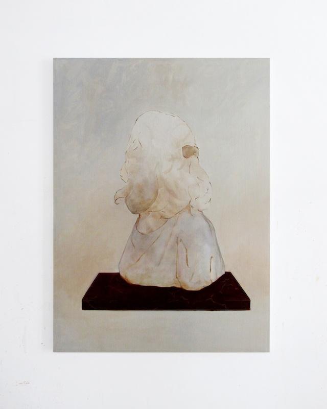 Benoît Blanchard, Fragment (Mère et fille), 2020. Huile sur toile, 100x70cm. Photo Benoît Blanchard