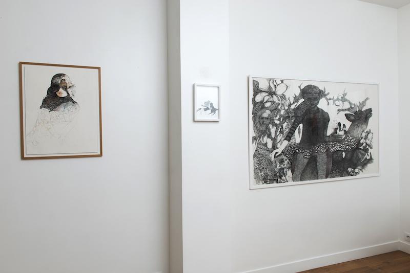 Vue d'exposition Nathalie Tacheau à la Ségolène Brossette galerie Paris