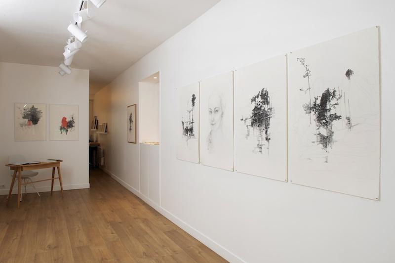 Vue d'exposition Nathalie Tachaud à la Ségolène Brossette galerie Paris