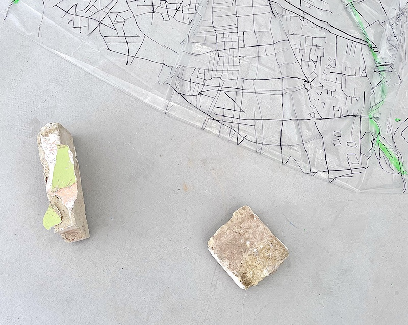 Vues d'exposition « urban tracks », Homesession Barcelone, 2021