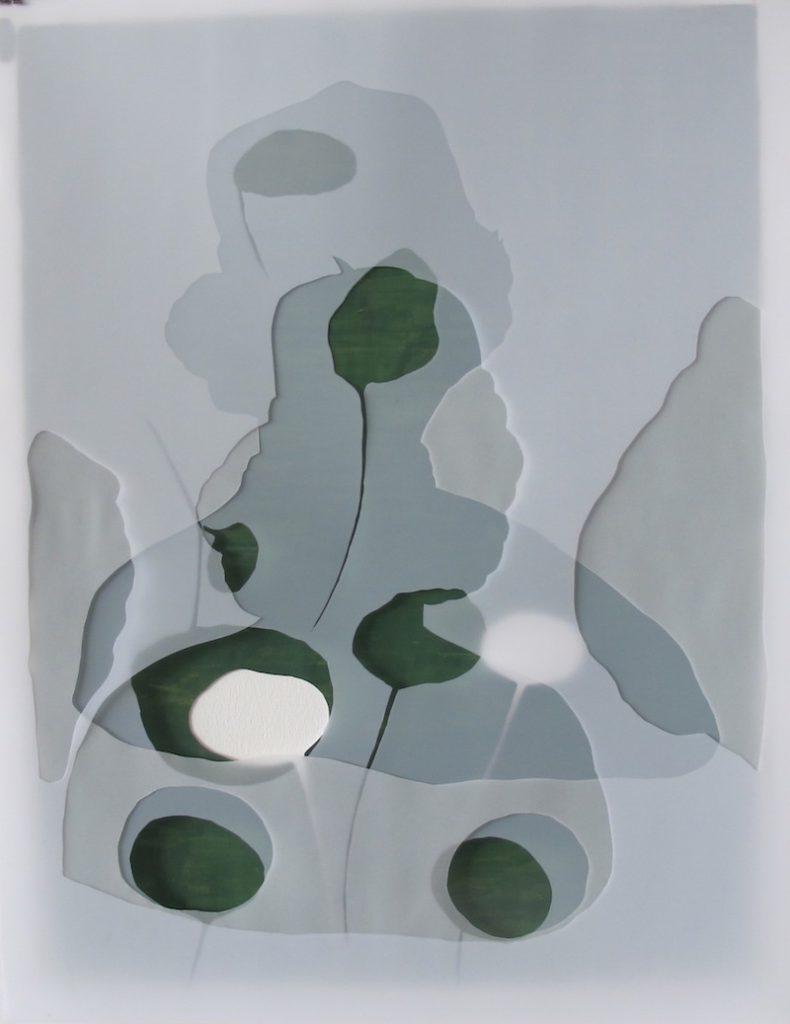Christine Crozat, Hommage à Hans Memling Technique mixte sur papier 77 x 62 cm Photo Christine Crozat