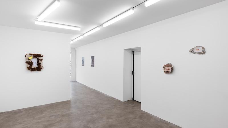 Vue d'exposition Réunion sur cellulose, Galerie Chloe Salgado, 2021 - Photo Gregory Copitet © Galerie Chloe Salgado