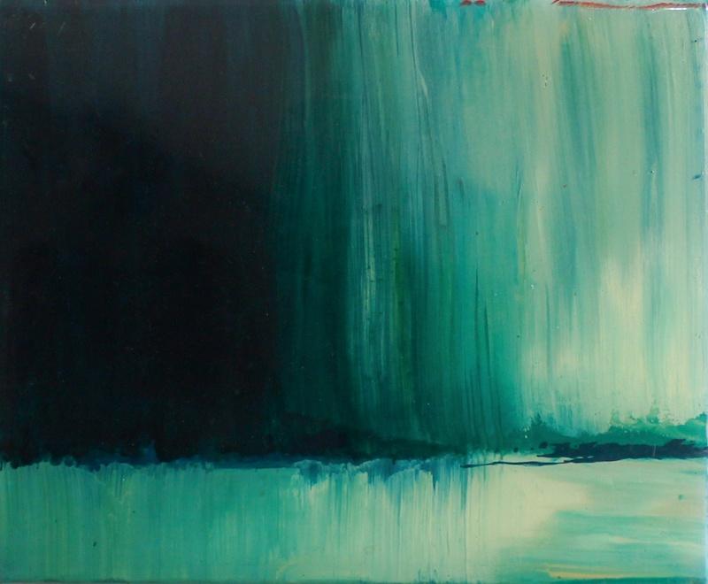 Claude Como, Sans titre  2014  Huile et résine sur toile  22 x 27 cm