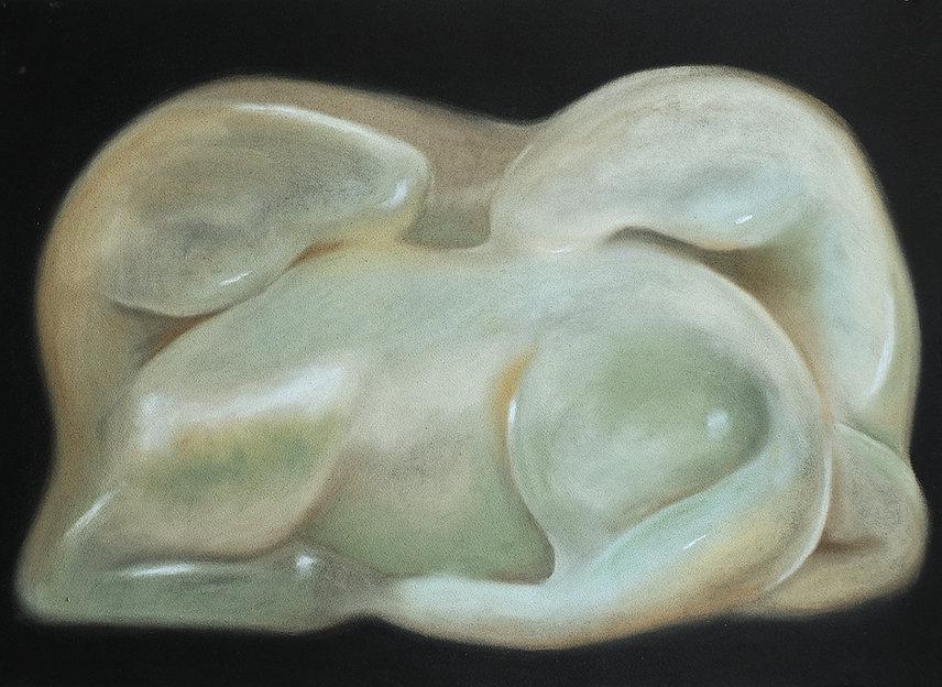 hao shuo mon rêve familier, 55 x 75cm, pastel