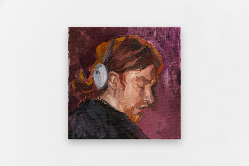 CHARLES HASCOËT - APHEX TWIN (SLEEPING) 2021 Oil on canvas 30 x 30 cm CHARLES HASCOËT - APHEX TWIN (SLEEPING) 2021 Oil on canvas 30 x 30 cm