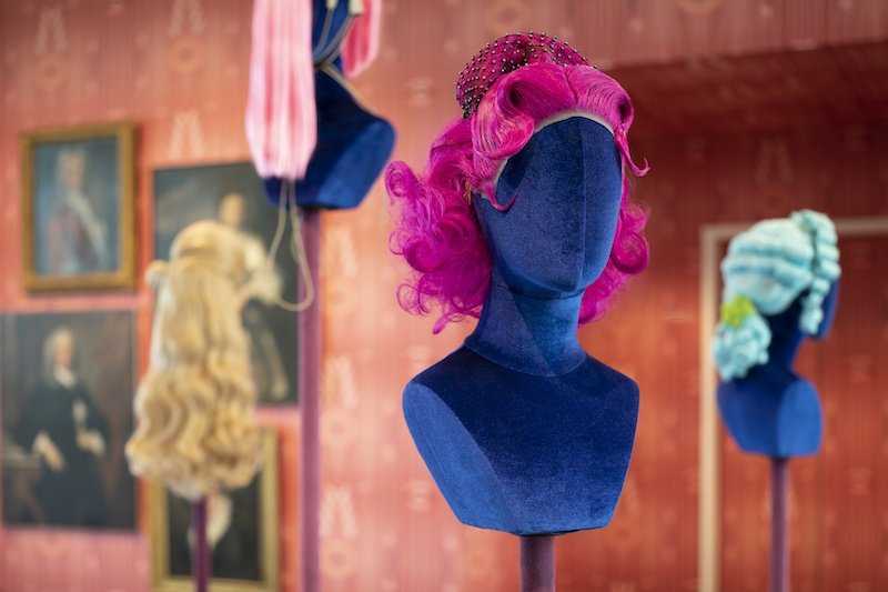 """SCAD Savannah – Fall 2021 – Exhibitions – Mehryl Levisse – """"White Wig"""" – Documentation – SCAD Museum of Art – Photography Courtesy of SCAD"""