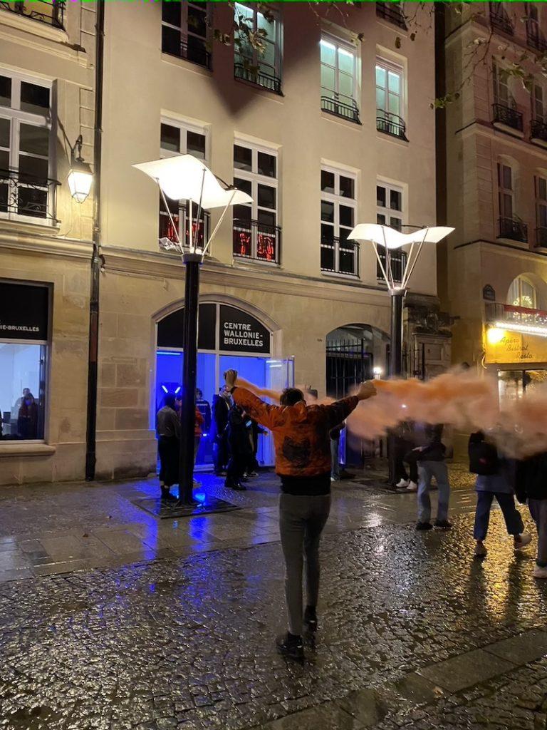 Marcin Dudek, Performance The Group, 02-10-2021, Nuit Blanche 2021, Centre Wallonie-Bruxelles Paris - Photo Valérie Toubas