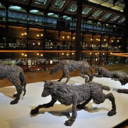 Lionel Sabatté La meute - FIAC - Hors les murs, 2011 Grande Galerie de l'évolution - Muséum d'histoire naturelle de Paris Photos © J.-C Grandin Collection particulière