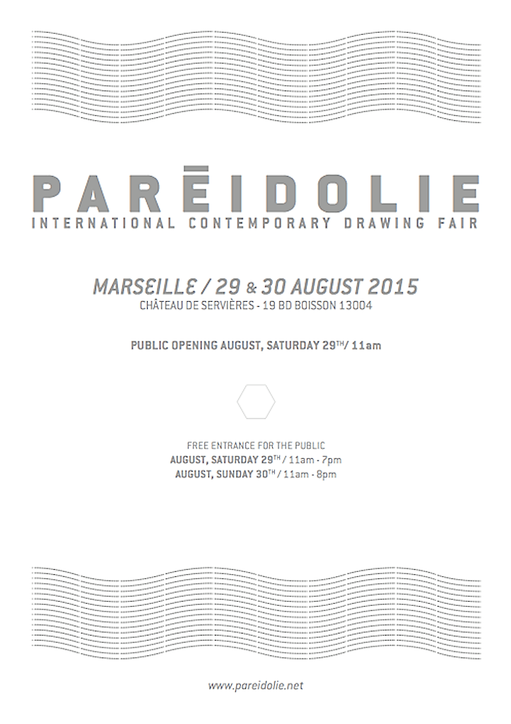 [PARTENARIAT] PARÉIDOLIE, Salon international du dessin contemporain, Marseille 2015