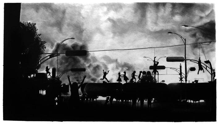 FOCUS/ Raphaël Tachdjian, dessins à la pierre noire et graphite