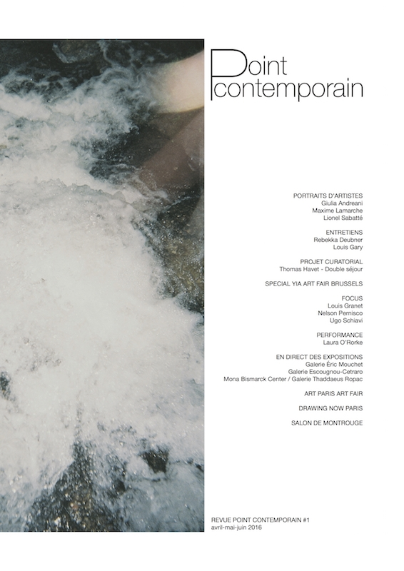 Revue Point contemporain #1 Avril - Mai - Juin 2016