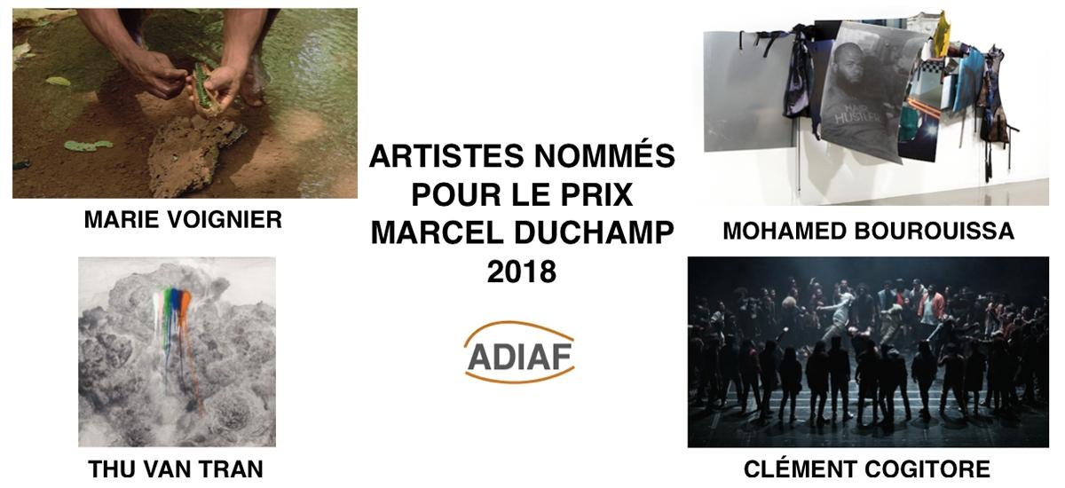 ARTISTES NOMMÉS AU PRIX MARCEL DUCHAMP 2018 : MOHAMED BOUROUISSA, CLÉMENT COGITORE, MARIE VOIGNIER ET THU VAN TRAN